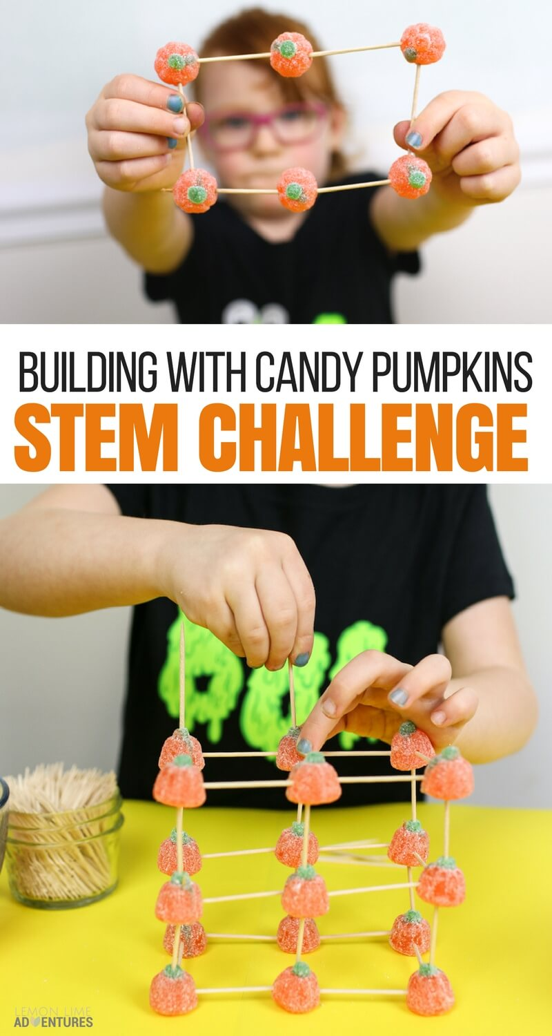 Building Structures With Candy Pumpkins