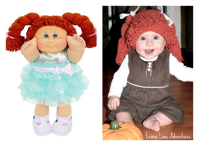 DIY Cabbage Patch Doll Costume for Baby  sc 1 st  Lemon Lime Adventures & Simple Cabbage Patch Doll Costume