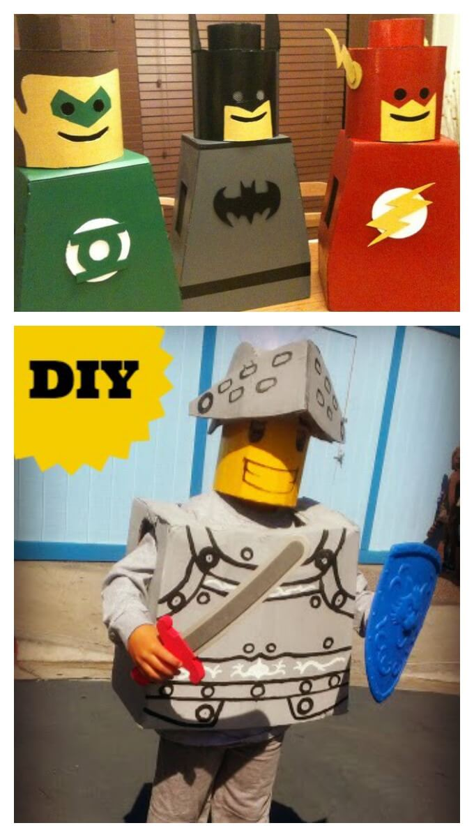 Knights and Superhero Lego Costume Ideas  sc 1 st  Lemon Lime Adventures & Amazing DIY Lego Costumes