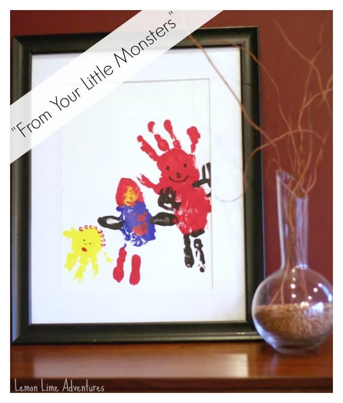 Little Monsters Handprint Art