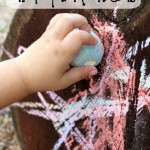easy outdoor art play ideas toddlers