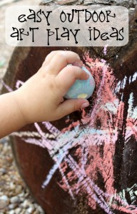Simple Toddler Play   Outdoor Art Ideas