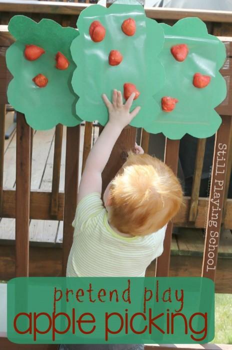 pretend-play-apple-picking