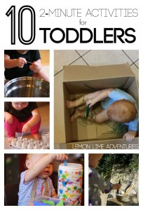 10 2 Minute Activities for Toddlers