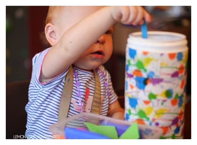 Toddler Play with Paper Scraps