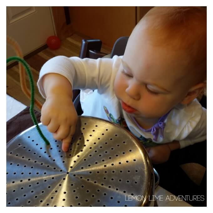 Toddler Play with Pipe Cleaners
