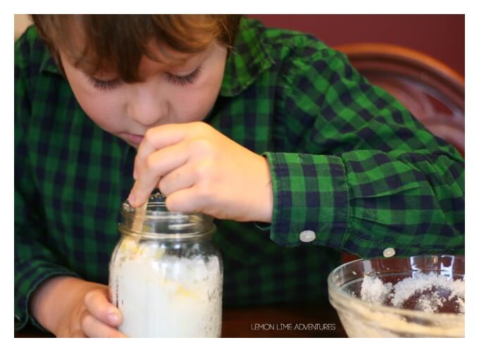 Making Lemon Sugar Scrub with Kids