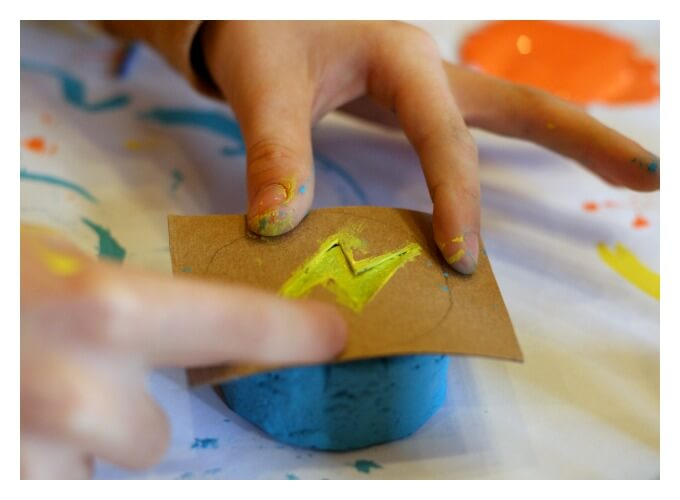 Stencil Salt Dough Painting Craft