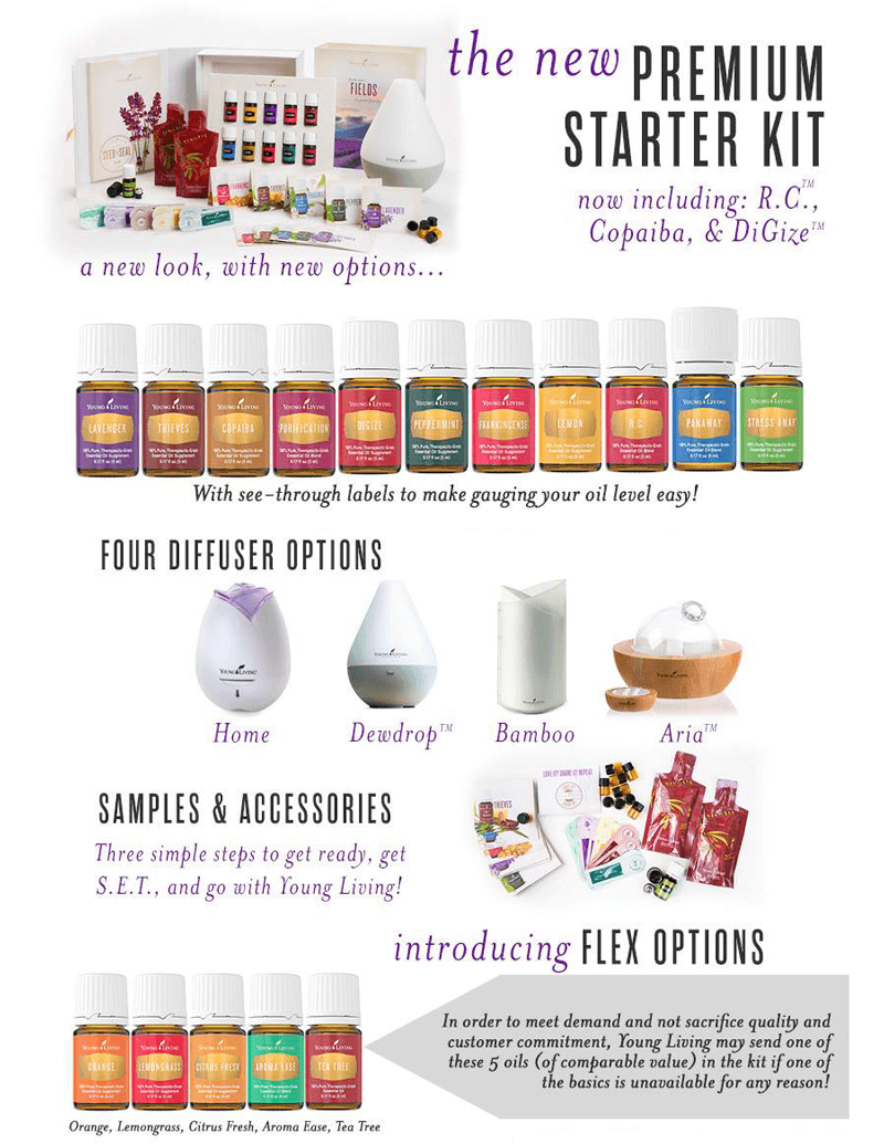 Young Living Essential Oil Starter Kit Options