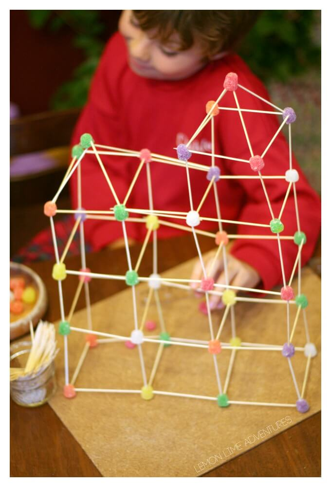 Building with Toothpicks and Gumdrops