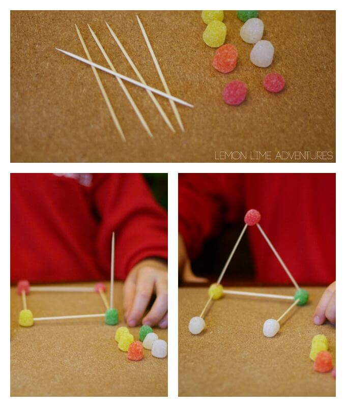 Gum Drop Stem Challenge with Toothpicks and Candy