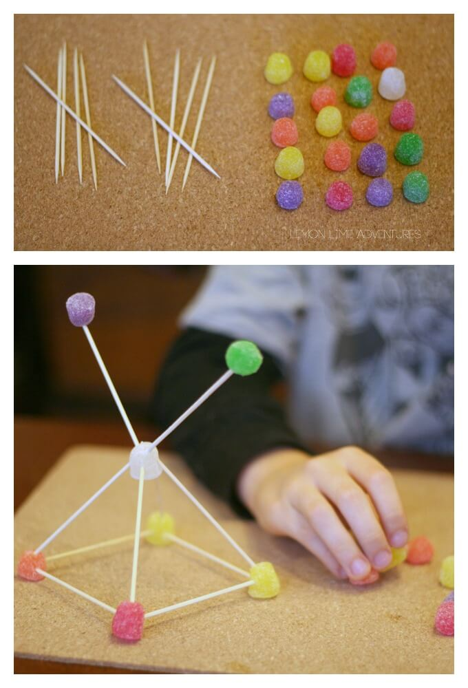 Gumdrop Buidling Activity For Kids
