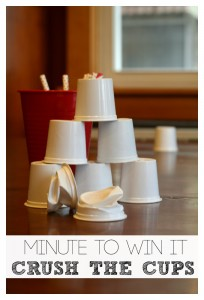 Minute to Win It Game Crush the Cups