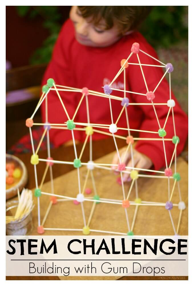 graphic regarding Building With Toothpicks and Marshmallows Printable identified as Developing Constructions with Sweet Gumdrops