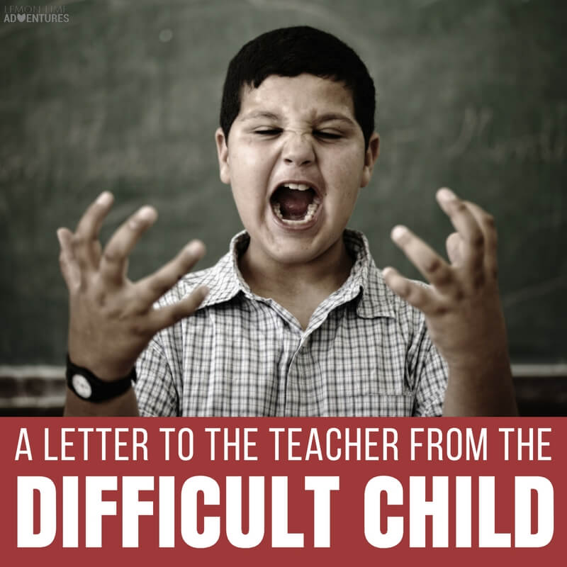 A Letter to the Teacher of