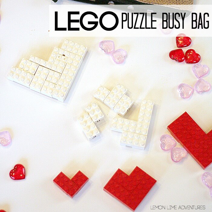 Lego Busy Bags for Valentines Day