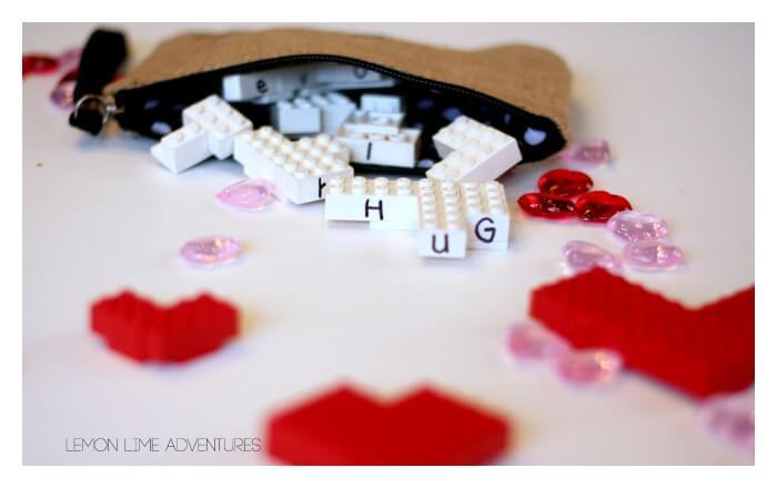 Lego valentines Busy Bag