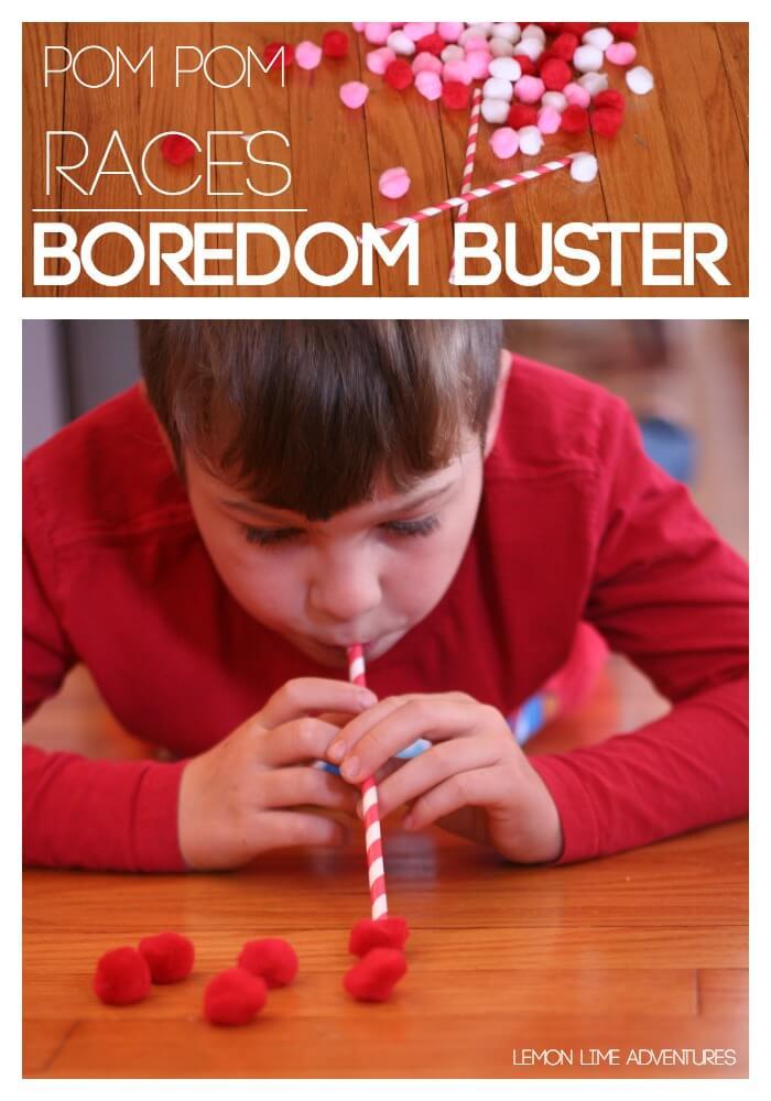 Pom Pom Races   An Excellent Boredom Buster for older kids