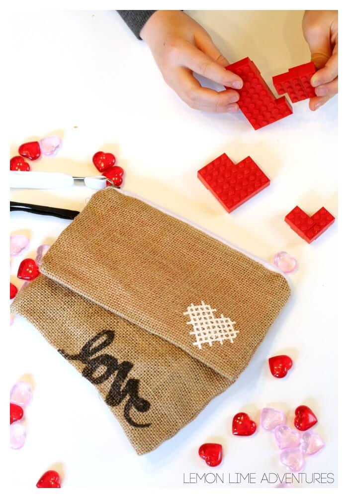 Simple Lego Activity for Valentines Day