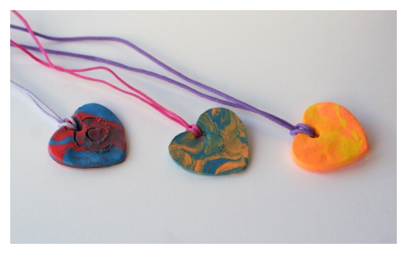 Kid Made kid made valentines day necklaces