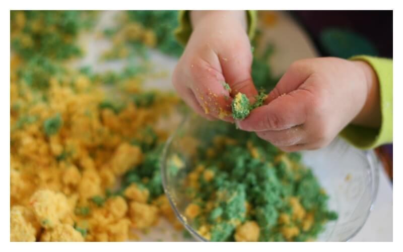 Lemon Lime Cloud dough for toddlers