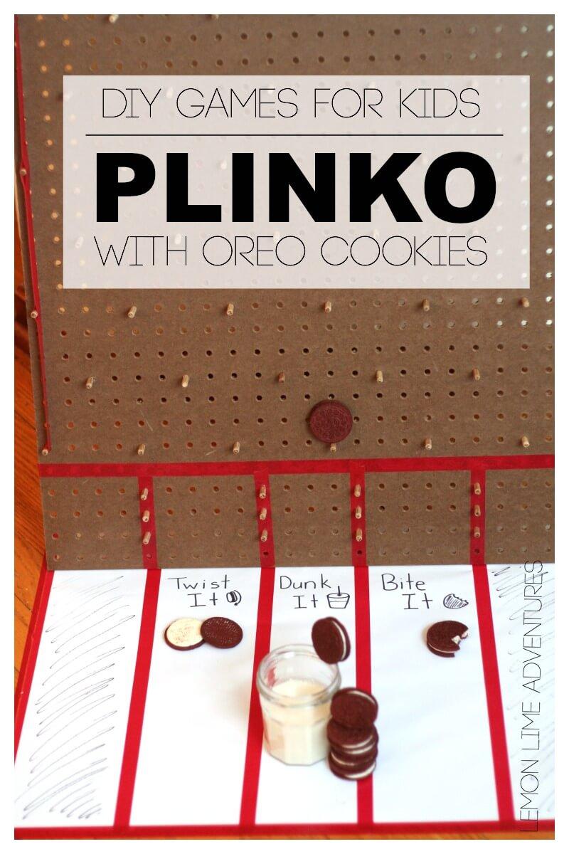 DIY Plinko Game {Play with Oreos}