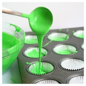 Totally Epic Slime Green Cupcakes