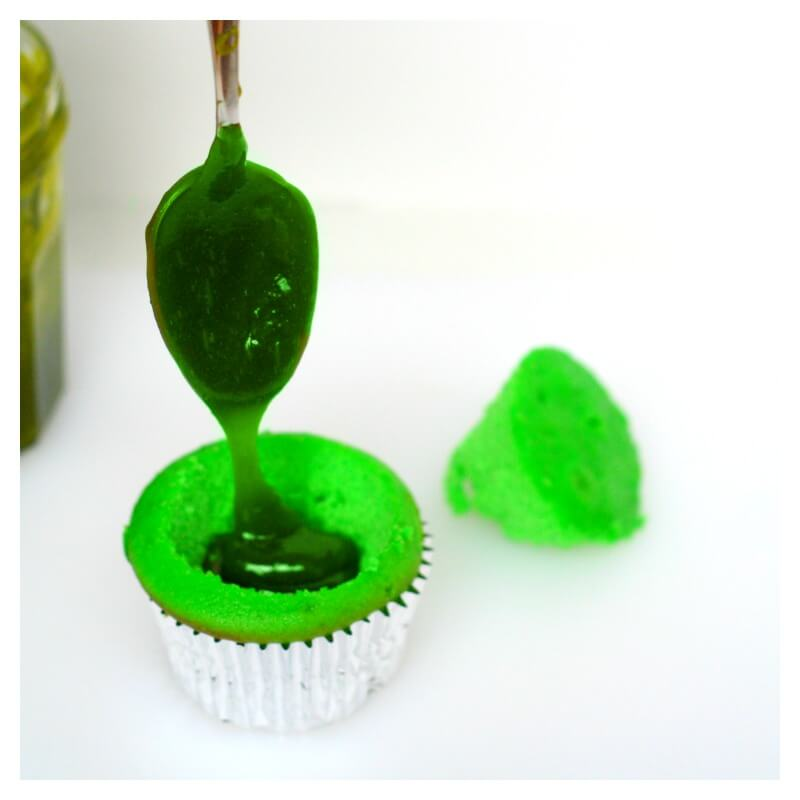 Slime Filled Cupcakes