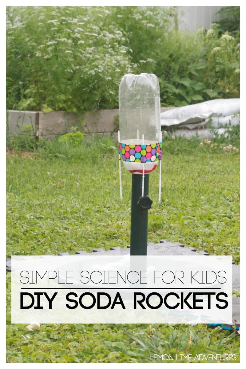 DIY Soda Rockets for Kids
