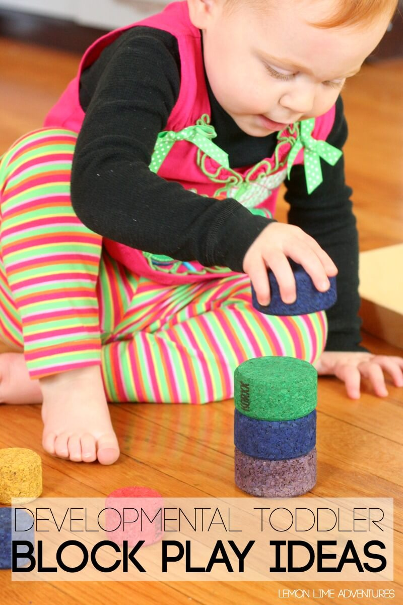 Developmental Toddler Block Play Ideas