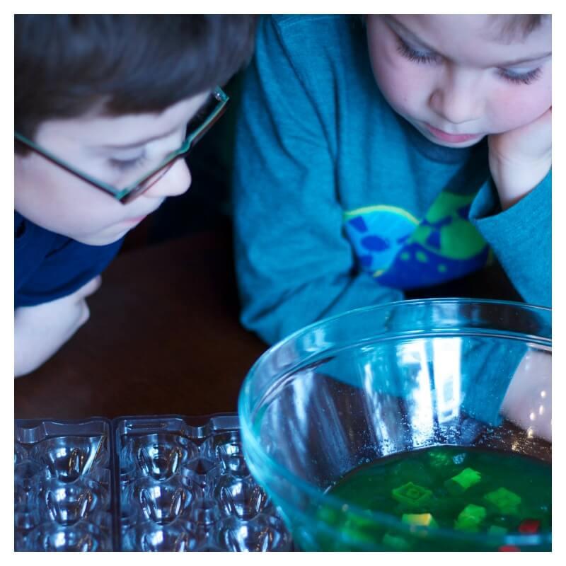 Jello Sensory Play with Lego