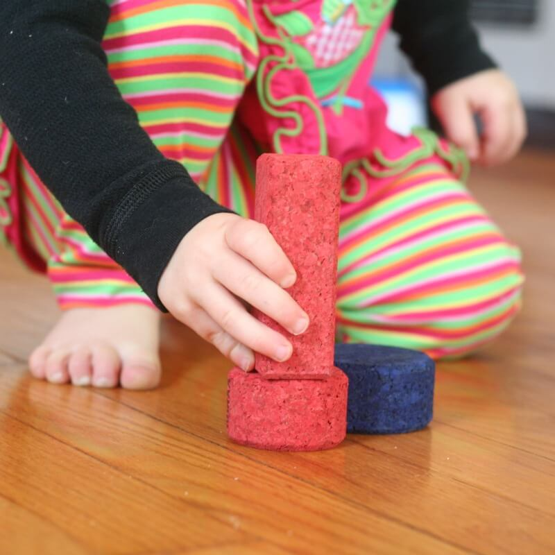 Matching Color Blocks with Toddlers
