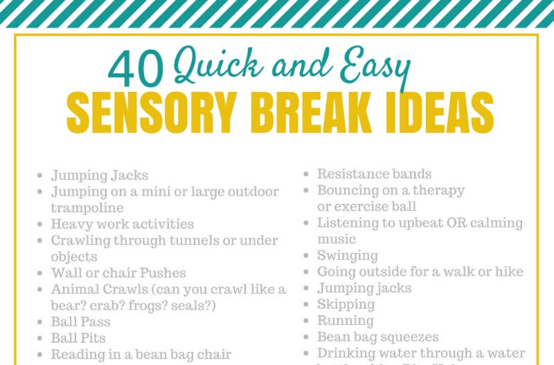 Simple Sensory Break Ideas