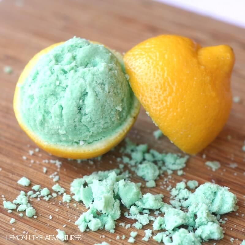 Lemon Lime Fizzy Dough