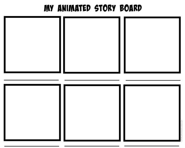 Stop Motion Animation Printable Storyboard