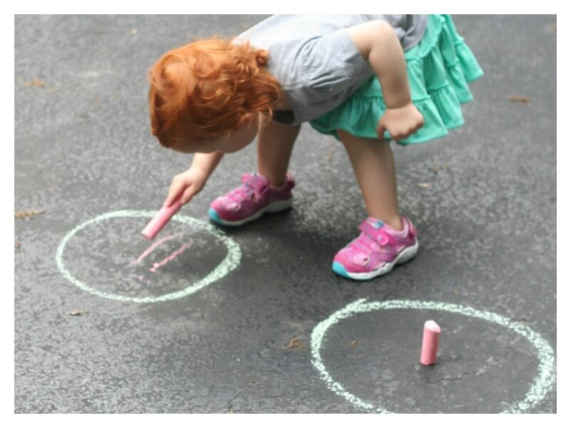 Toddler Chalk Games