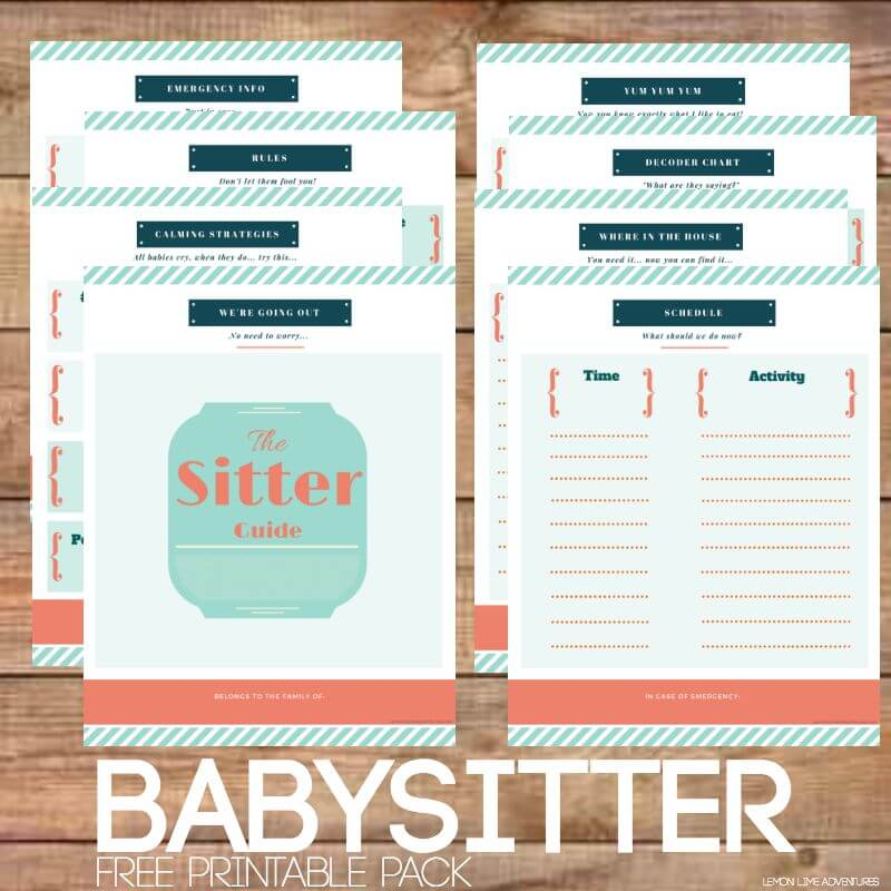 Babysitter Free Printable