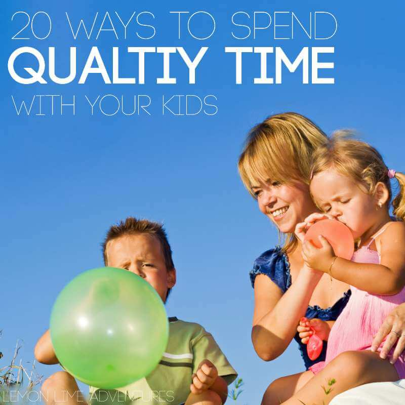Wow, this is a really awesome list of creative ways to find quality time with your kids!