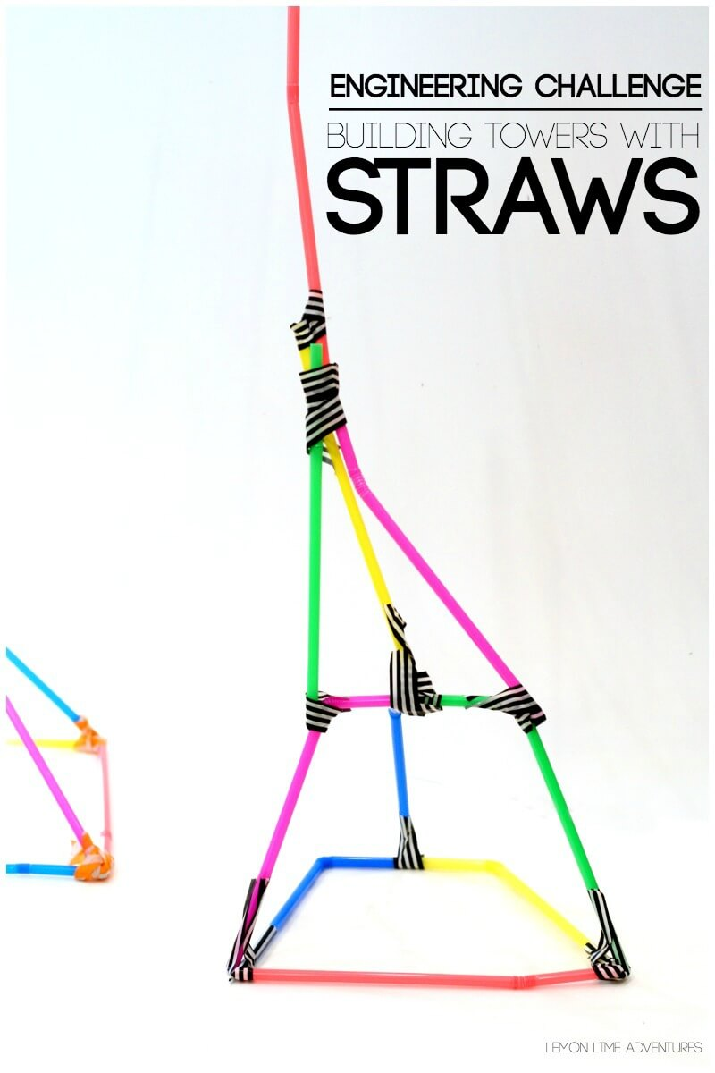 Building Towers with Straws Challenge