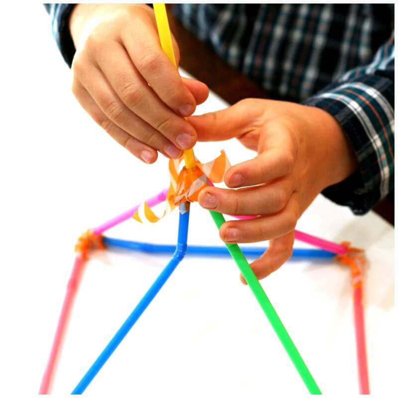 Building with Straws Science Challenge