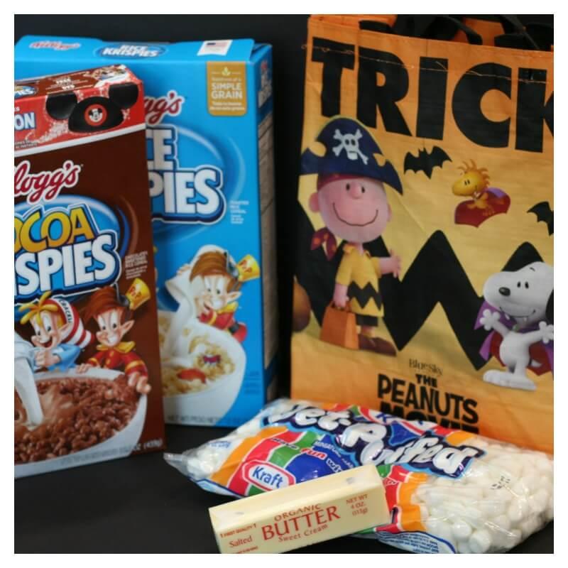 Ingredients Charlie Brown Rice Krispie Treats