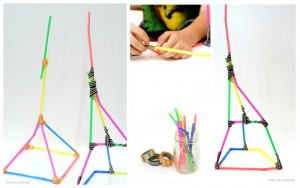 Tower Challenge with Straws