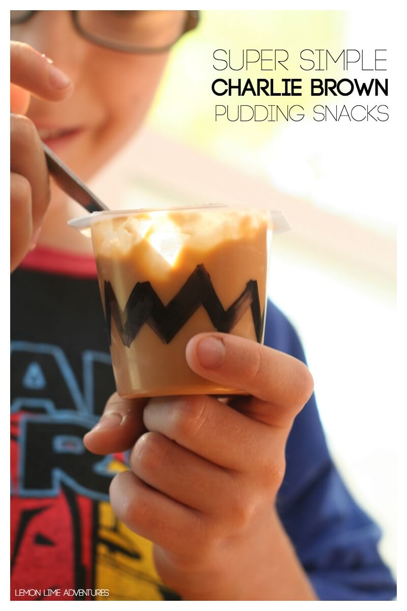 Super Simple Charlie Brown Pudding Snacks