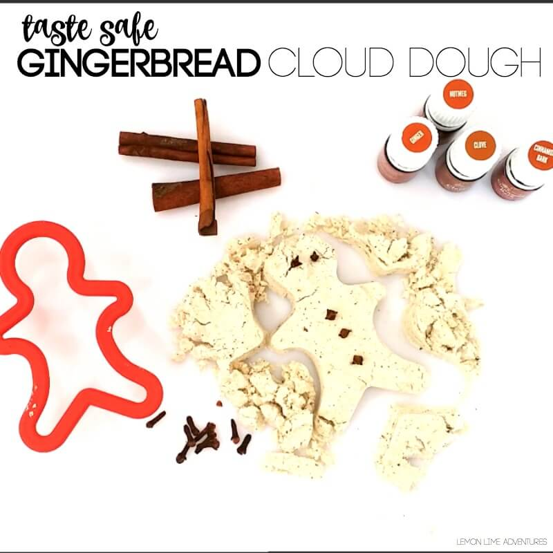 Taste Safe Gingerbread Cloud Dough Recipe
