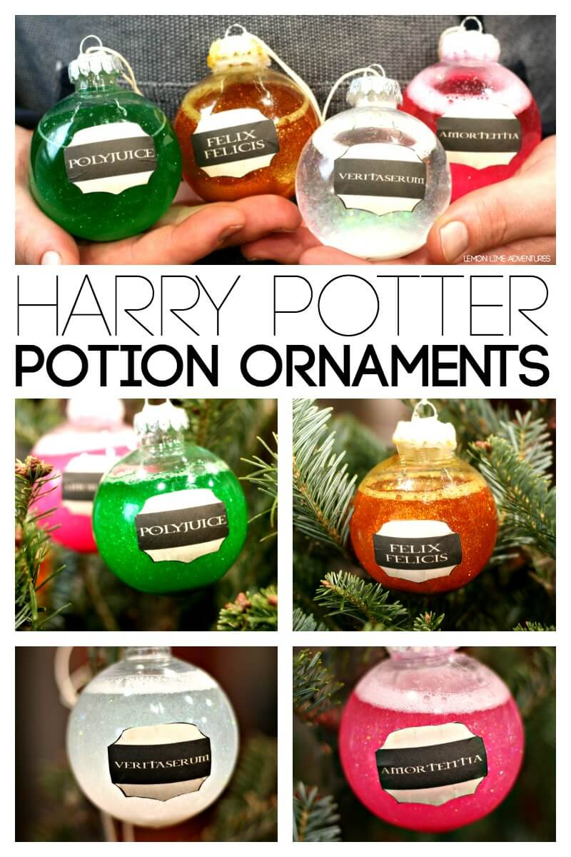 DIY Harry Potter Potion Ornaments