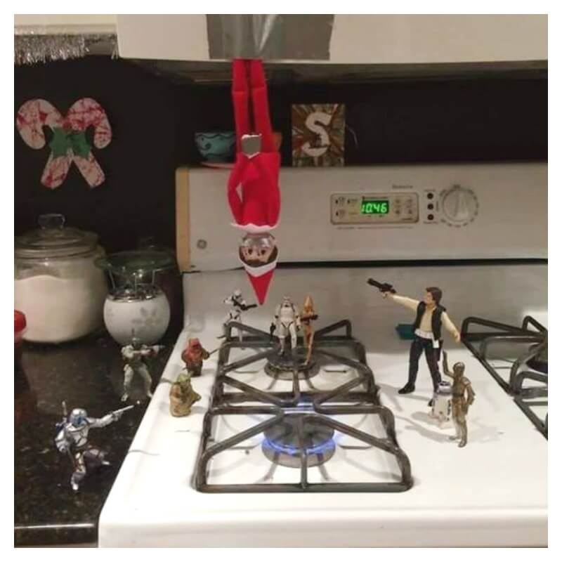 End Elf on the Shelf with Star Wars
