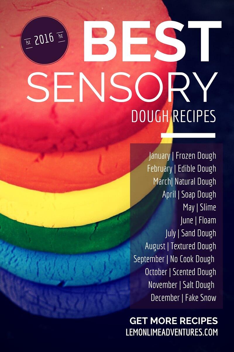 BEST Play Dough and Sensory Dough Recipes