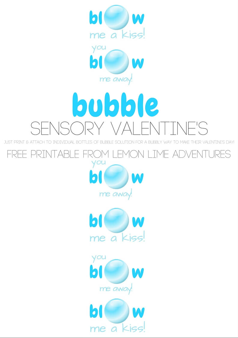 Bubble Sensory Valentine's Printable Download
