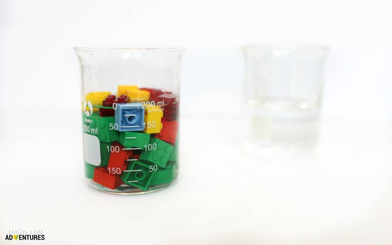 Displacement Experiment with Lego Full Glass