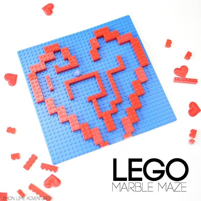 Heart Lego Marble Maze